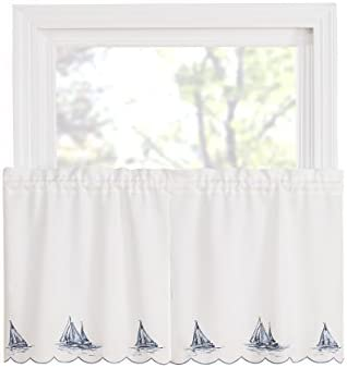 Renaissance Home Fashion Sailboat Tier Pair, 36 , Blue