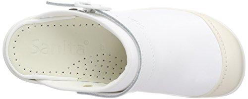 Sanita Unisexe Adulte San-service Galoches Open-sb Blanc (blanc 1)