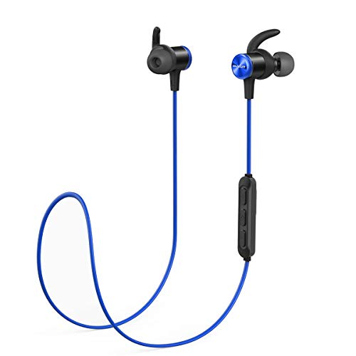 Bluetooth Headphones, Soundcore Spirit Sports Earbuds by Anker, Bluetooth 5.0, 8H Battery, IPX7 Waterproof, SweatGuard, Comfortable Wireless Headphones, Secure Fit for Running, Gym, Workout (Anker Soundbuds In Ear Sport Earbuds Review)