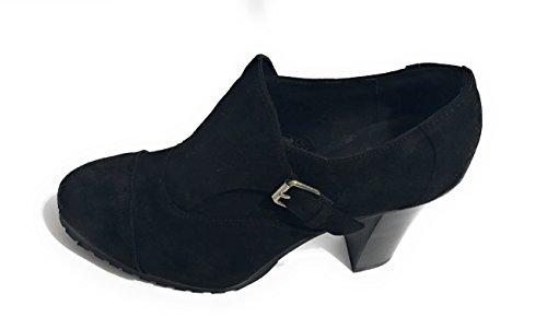Tronchetto ankle boot Liu-Jo S64049 Olyvia in camoscio nero tacco 105
