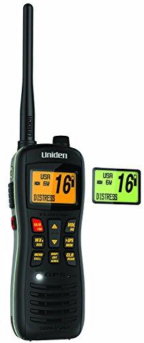 Uniden MHS235 Submersible Floating VHF/GPS Handheld Marine Radio - 1 Year Direct Manufacturer Warranty by Uniden