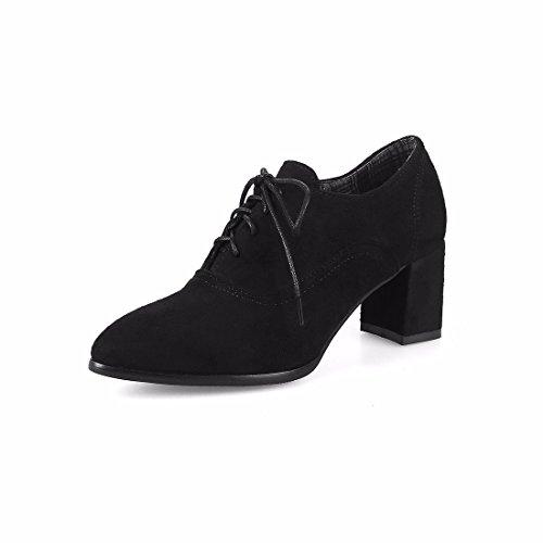Zapatos de Tacón/Señaló Calzados Femeninos, Esmerilado, Zapatos de Tacones Altos (Suede) Black