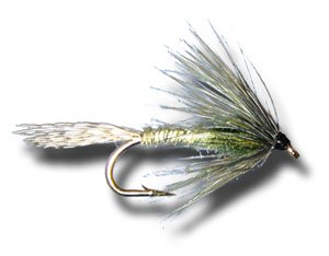 Green Drake Soft Hackle Fly Fishing Fly - Size 12 - 3 Pack Green Drake Flies