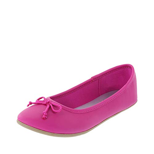 Zoe and Zac Hot Pink Smooth Girls' FAE String Tie Flat 3 Regular