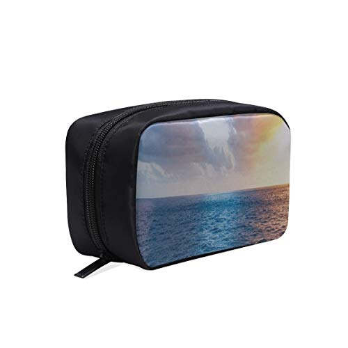 Your Home Makeup Case Bag Kauai Usa Ocean Skyline Sky Appropriate Capacity Portable Beauty Girl And Women Cosmetic Bags Storage Bags For Travel
