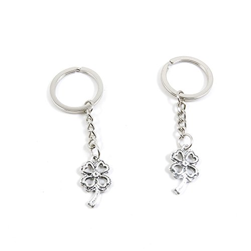 - 2 Pieces Keyring Keychain Keytag Key Ring Chain Tag Door Car Wholesale Jewelry Making Charms R3MJ4 Clover Leaf