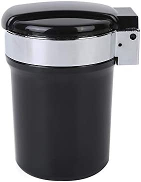 カバー/LEDの軽い車の灰皿のコップのホールダーが付いている携帯用管状の無煙車のタバコの灰の円柱(サイズ:8 * 10.5cm)