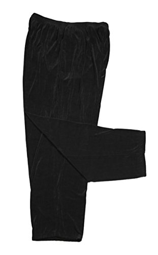A Personal Touch Women's Plus Size Black Pull-On Slinky Pant (Average) 1X