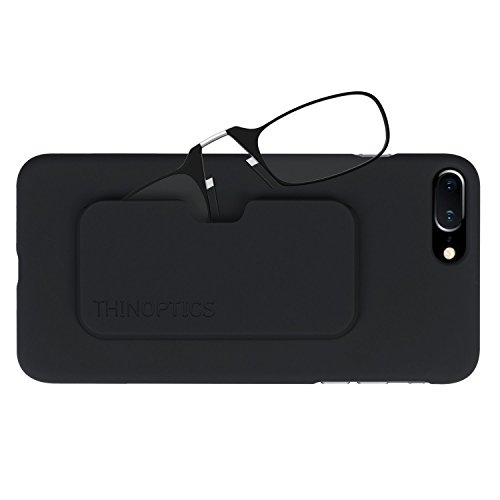 ThinOptics Reading Glasses + iPhone 8 Plus or iPhone 7 Plus Case | Black Frames, 2.50 (Plus Black Frame)