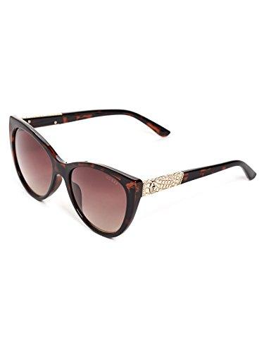 GUESS Factory Womens Plastic Cat-Eye Sunglasses