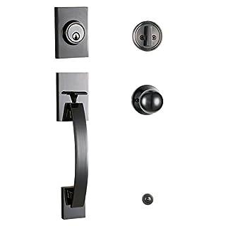 front door knob and deadbolt set brass do it yourself store