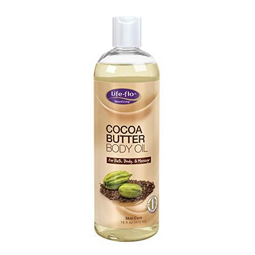 Life-Flo Cocoa Butter Body Oil, 16 Fluid Ounce