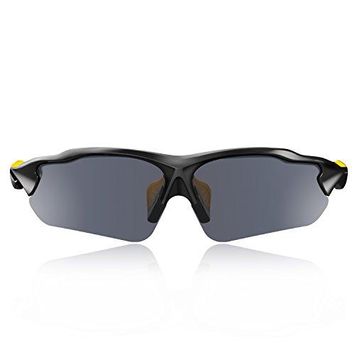 Hulislem Blade Ⅱ Sport Polarized Sunglasses (Yellow-Smoke)