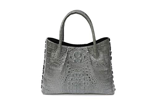 - KGIEM Women's Real Alligator Handmade Handbag Purse Bag K169