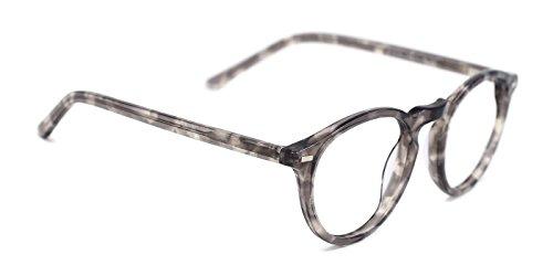 5450648c5bae3 TIJN Vintage Eye-catching Keyhole Horn Rimmed Round Acetate Eyeglasses