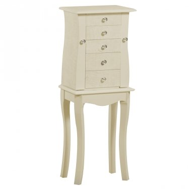 - Jewelry Armoire in Cream Finish