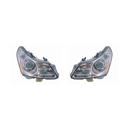 G35 Sedan Headlight (Infiniti G35 Sedan 2007-2008 Headlight Assembly w/o Technology Package Pair Driver and Passenger Side IN2502137, IN2503137)