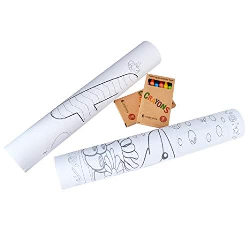 KpopBaby Children Drawing Scroll Paper Wallpaper Preschool Graffiti DIY Drawing Set