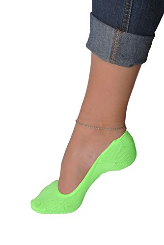 Juccini Women Bamboo Socks No Show Liner Boot Socks 3-pack (green)