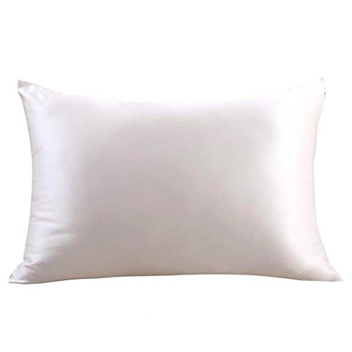 ZIMASILK 100% Mulberry Silk Pillowcase for Hair and Skin Health,Both Side 19 Momme Silk,1pc (Standard20x26, Ivory)