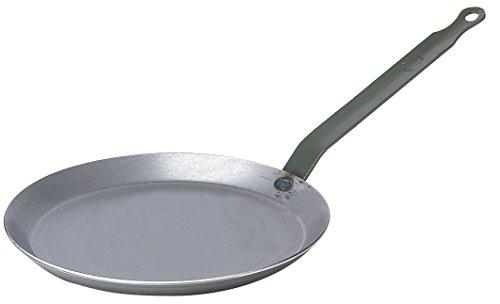 De Buyer Professional 26 cm Carbone Plus White Iron Round Crepe and Pancake Pan 5120.26 (Pan De Buyer Crepe)