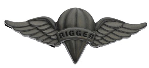 Army Parachute Rigger Wings 1 3/4 inch Hat Lapel Pin - Parachute Army Wings