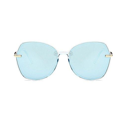retro de de de las polarizadas de sol las de para sol Gafas ULTRAVIOLETA Protección hombres personalidad gafas conducción los de la Retro Gafas de unisex Azul marco las sol del y de sol de la gafas mujeres qwxIIB