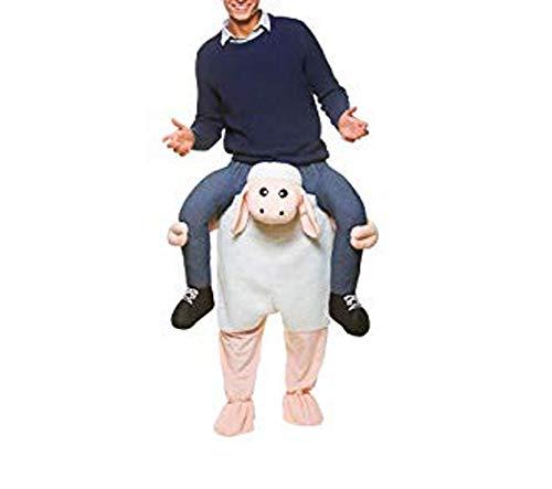 Halloween Carry Ride On Me Sheep Piggy Back Goat Mascot Costume White]()