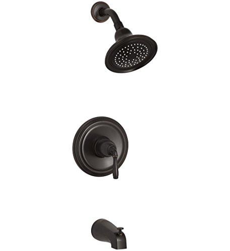 KOHLER TS395-4-2BZ Devonshire(R) Rite-Temp(R) bath and shower valve trim with lever handle, NPT spout and 2.5 gpm showerhead 1 ()