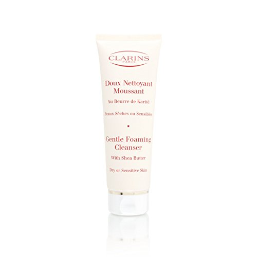 Clarins Gentle Foaming Cleanser with Shea Butter for Unisex, Dry/Sensitive Skin, 4.4 Ounce