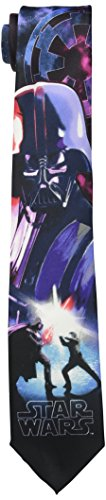 (Star Wars Men's Vader and Luke Duel Tie, Purple, One)