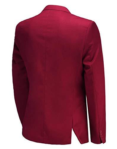 Baseball Giacca Uomo Laterale Slim Colori Ventilata 10 Suit Bottoni A Rot Due Smoking Fit Sportiva Da Giovane qzrSpwq