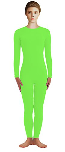 VSVO Adult Lime Green Lycra Scoop Neck Unitard (Large, Lime Green)