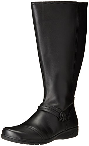 Calf Boot US Wide Clarks Whisk 7 W Women's Cheyn Riding Black wq41fI