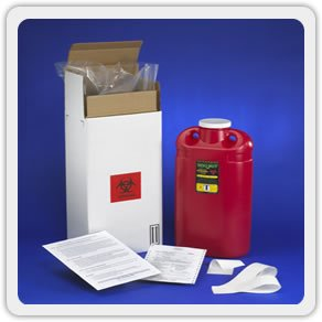 - 3 Gallon Sharps Mail Back Disposal System