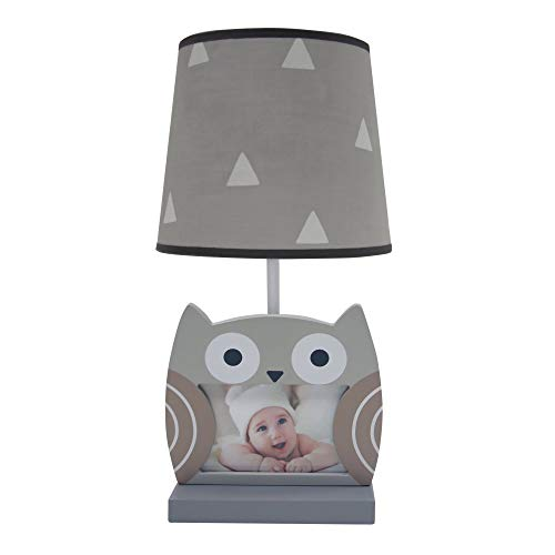 Bedtime Originals Little Rascals Gray/Taupe Owl Nursery Lamp with Shade & Bulb