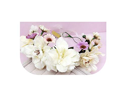 Kid Floral Garland Women Wedding hair accessories bridal flower wreath Kids Party Flower Crown girls hair accessories,Picture -