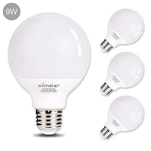 Comzler 9 Watt G25 LED Bulb, 72W Incandescent Bulb Equivalent Globe LED -