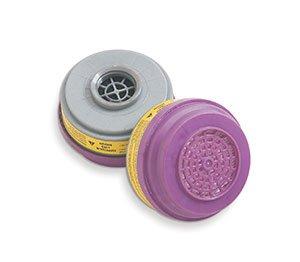 Sperian Survivair S-Series Organic vapor/acid gas cartridge w/ P100 particulate filter - (2 Packs; 4/Pack) - R3-105310