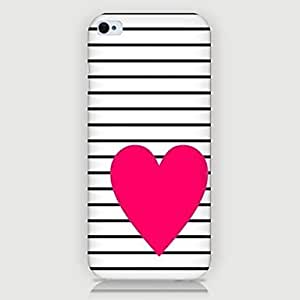 LCJ Loving Heart Pattern Back Case for iPhone5/5S by icecream design