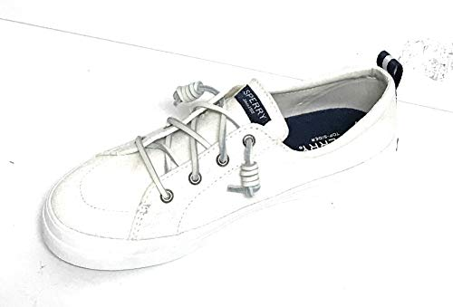Sperry Women's Crest Vibe Linen Sneaker White 9.5 M US