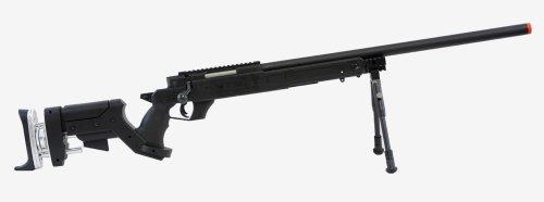 Rifle Sniper Mauser - well sr pro bolt action sniper rifle w/ bipod black(Airsoft Gun)