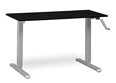 MultiTable Crank Adjustable Height Standing Desk with Silver Frame