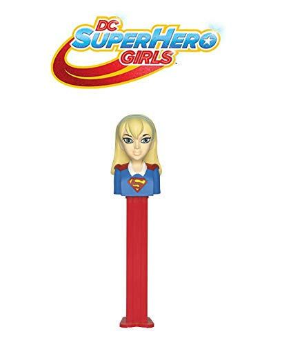 Pez Candy DC Superhero Girls SuperGirl: Dispenser with 2 Candy Packs