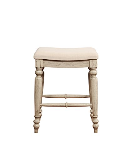 Linon Marino Backless Counter Stool in White Wash