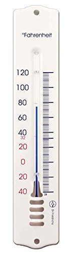 french-enamel-style-analog-metal-wall-thermometer-8-inch-white-fahrenheit