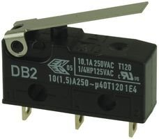 1 piece CHERRY DB2CA1LB MICRO SWITCH HINGE LEVER SPDT 10.1A 250V