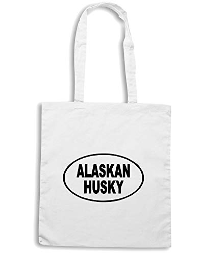 Speed Shirt Borsa Shopper Bianca FUN0525 ALASKAN HUSKY