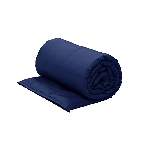 Viki Super Soft Weighted Stress Blanket (60''x80'', 20lbs for 190-210 lbs Individual, Navyblue) for Kids, Teens, Adults | Great for Anxiety, ADHD, Autism, Insomnia, OCD and SPD | Fit King Size Bed by Viki