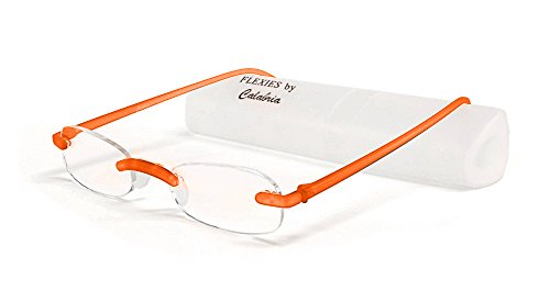 Calabria Reading Glasses - 715 Flexie in Tangerine +1.50